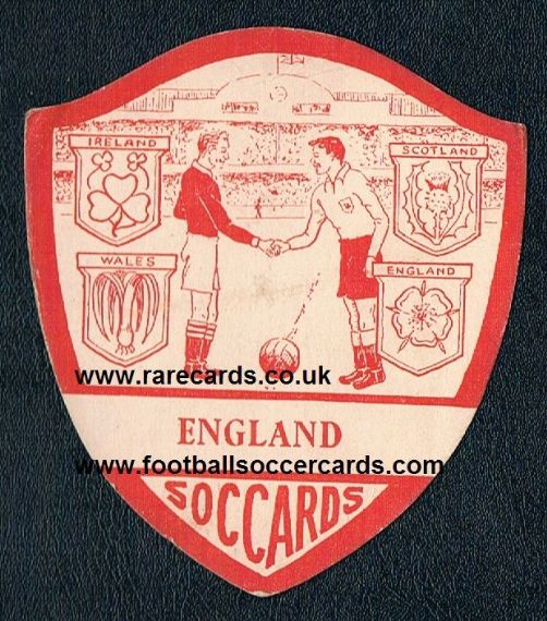 1950 Soccards England Home International